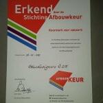 certificaat afbouwkeur